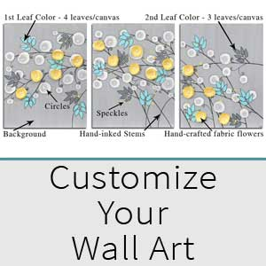Choose colors for your custom wall art