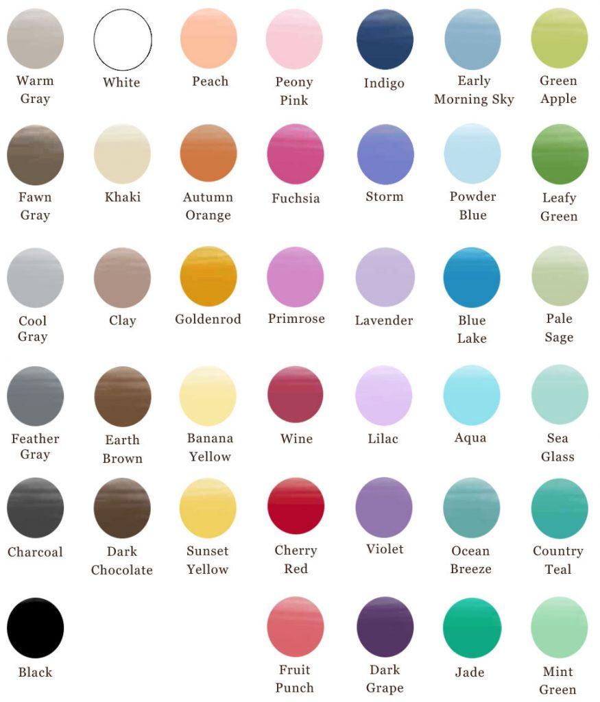 Amborela art color chart