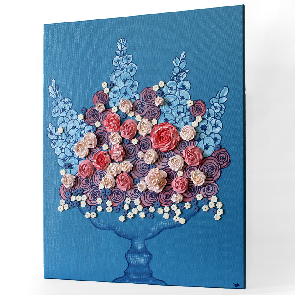 New floral still life painting