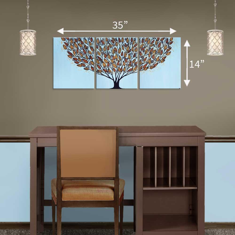 35X14 canvas size above a single sided desk