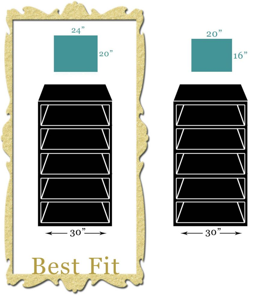 Scale Diagram Of Canvas Art Sizes That Fit Best Hanging Above A Tall Bookshelf