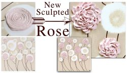 Comparison of new sculpted rose painting with old rose painting design