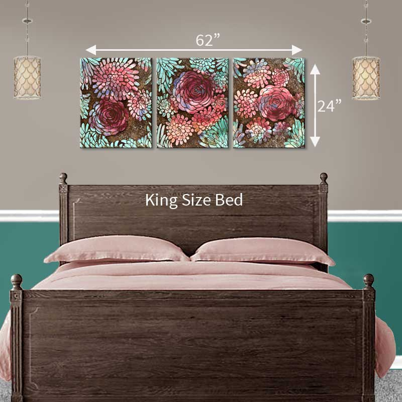 Extra Large art size that fits above a king size bed