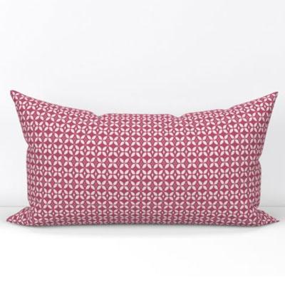Bolster pillow in pink butterfly lattice pattern