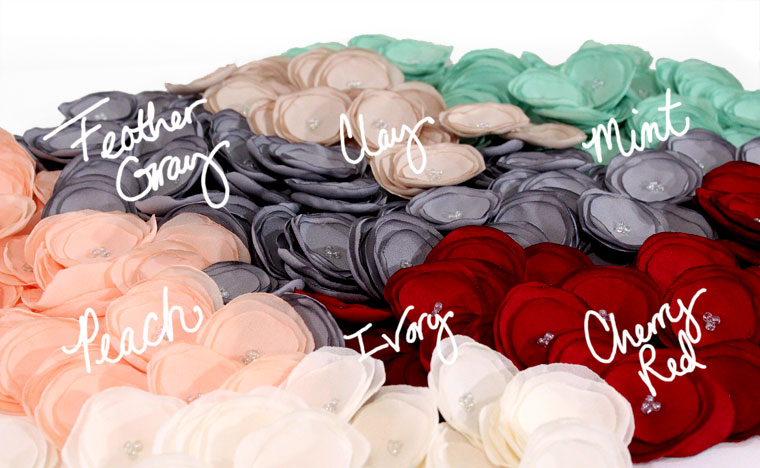 New flower colors for 2017 handcrafted by JujaCrafts
