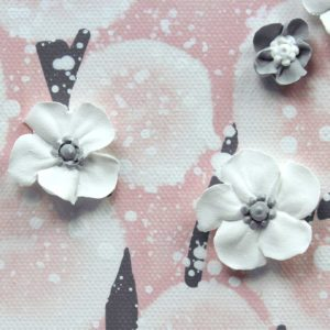 Pink and Gray Nursery Wall Art Tree for Baby Girl – Large