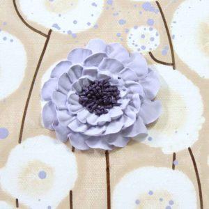 Purple Nursery Wall Art Flower Paintings on 3 Canvases