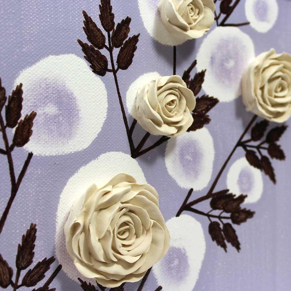 Center view of nursery art lavender rose branch