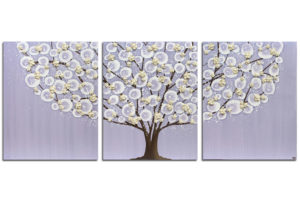 Nursery art lavender and khaki flowering tree