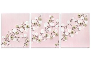 Nursery art pink climbing flower