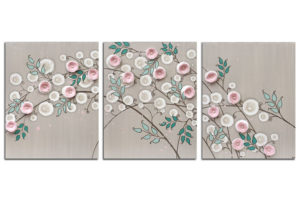 Nursery art pink climbing rose