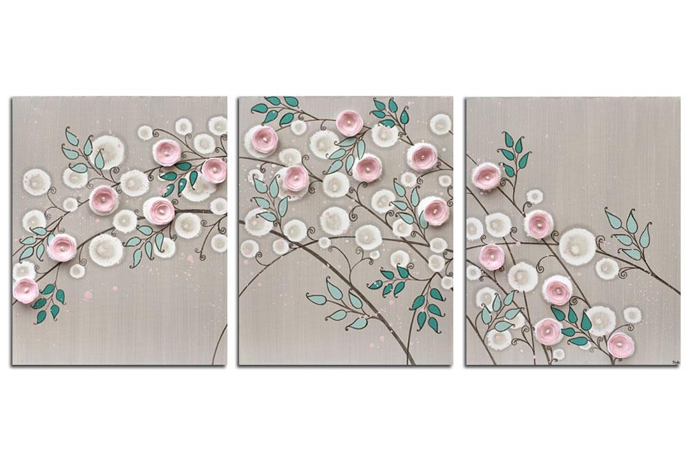 Nursery art pink climbing rose