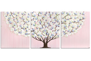 Nursery art pink and purple tree