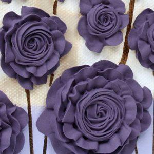 Purple Wildflower Canvas Painting – Small