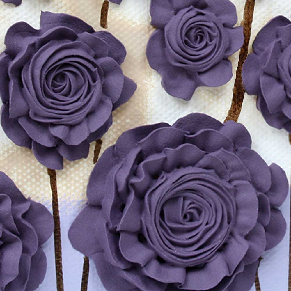Texture detail of nursery art purple flower meadow