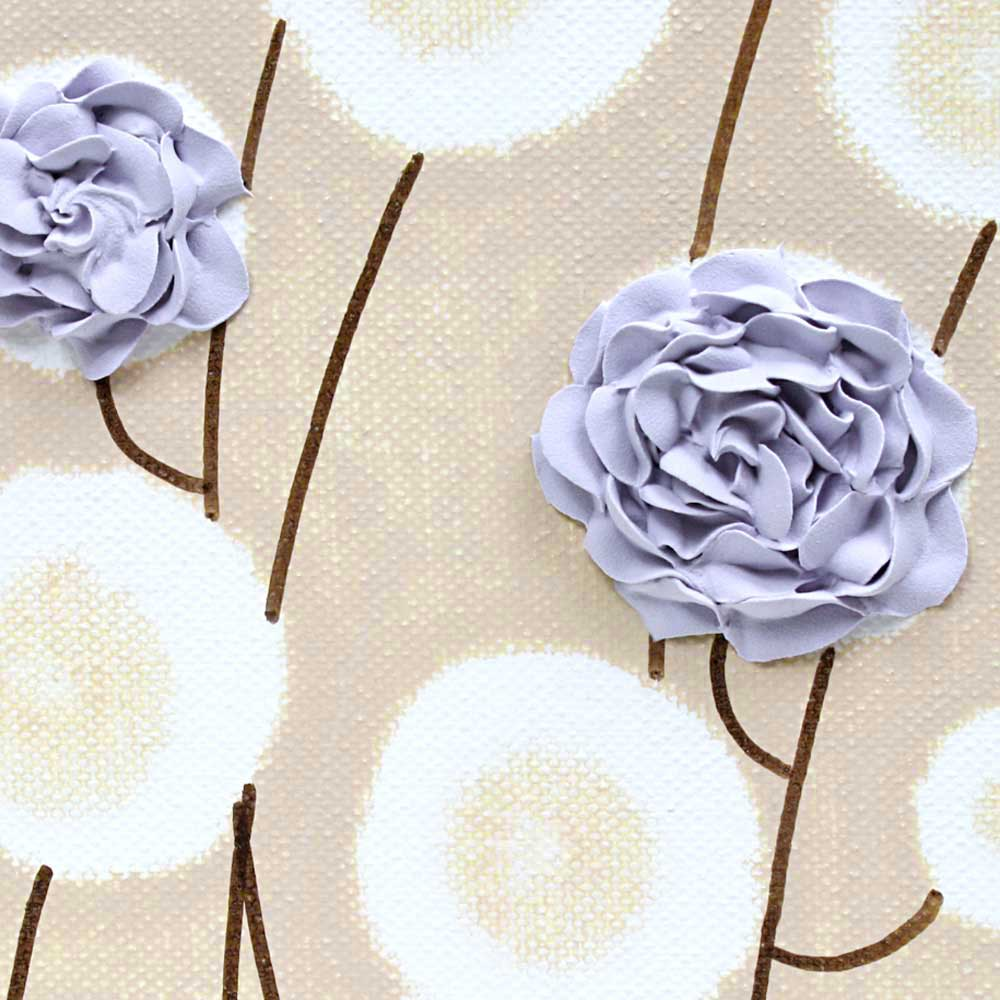 Details of nursery art purple roses