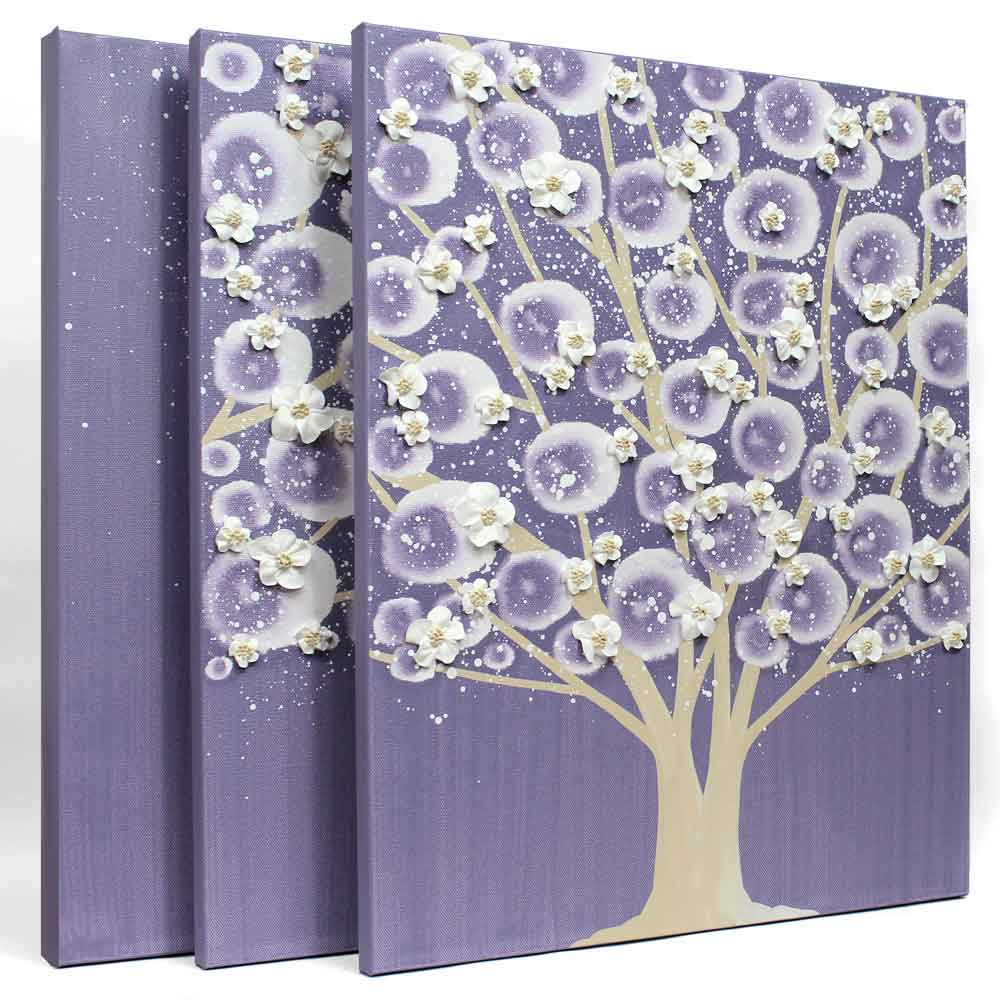 Side view of nursery art violet and khaki climbing rose