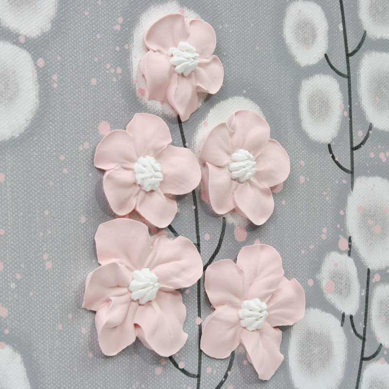 Wildflower on nursery canvas art gray and pink flowers