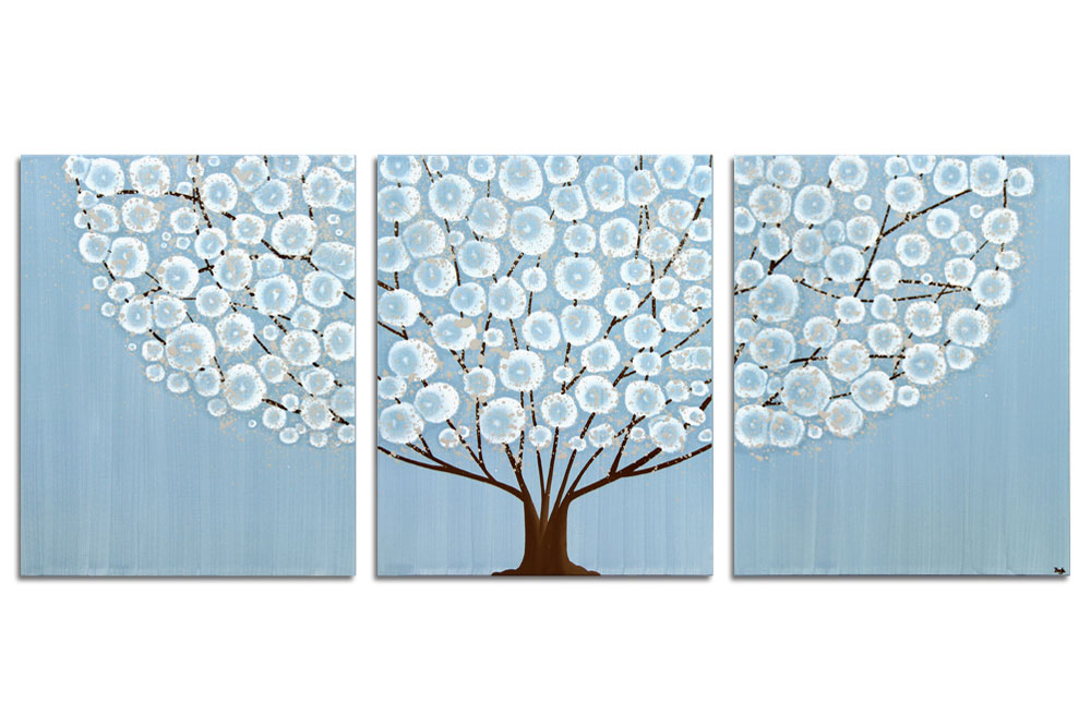 Brilliant 20 blue and brown wall art design decoration of for Blue and brown wall art