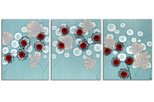 Wall art ocean breeze and roses
