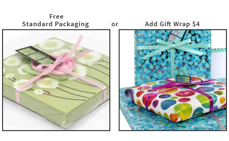 Standard packaging versus gift wrapping