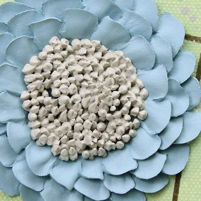 Zinnia on wall art green and blue flowers set of three extra large