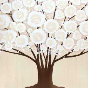 Canvas Tree Painting in Neutral Khaki and Brown | Large – Extra Large