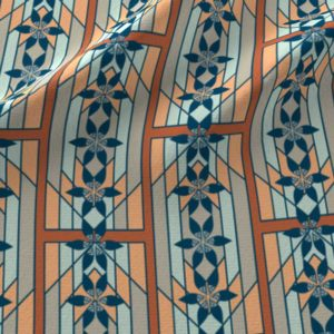 Art deco style windowpane design in orange