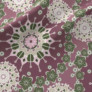 Large mandalas in pink and green