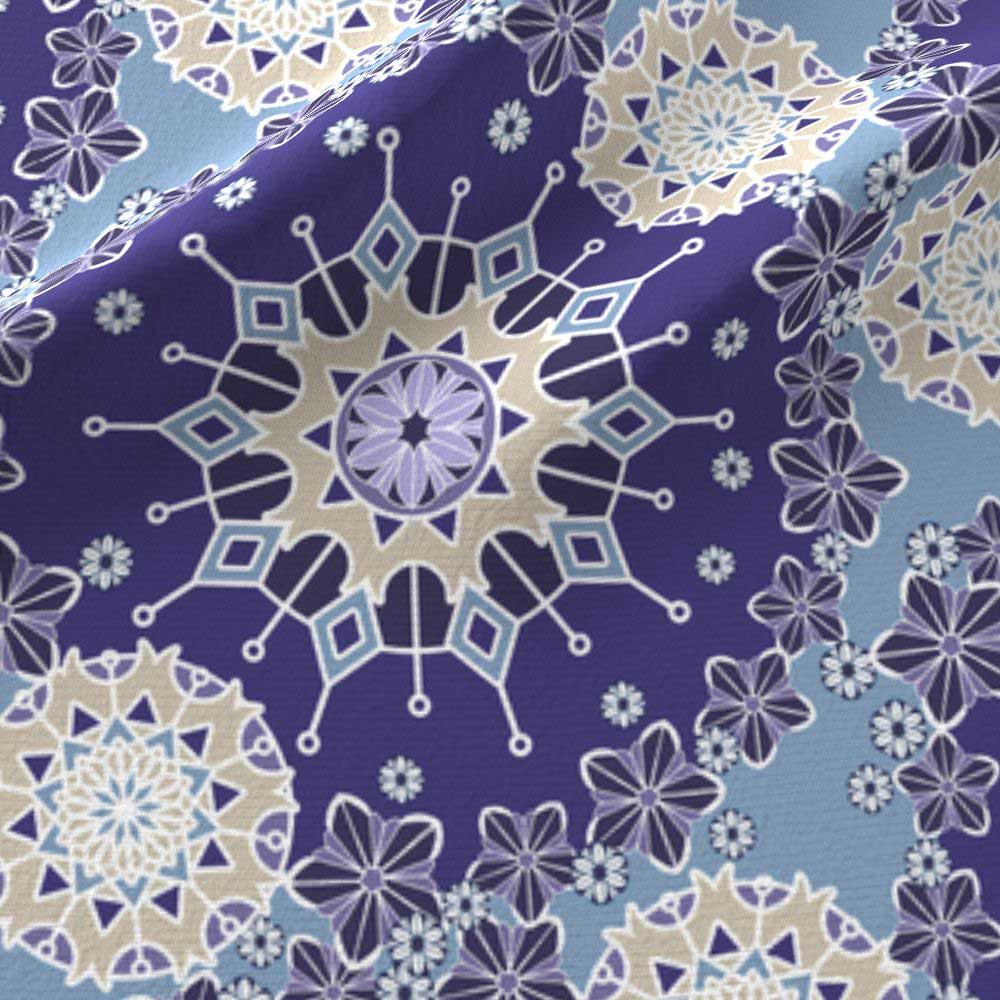 Large mandalas in blue and purple
