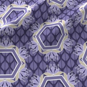 Lotus hexagons in violet purple