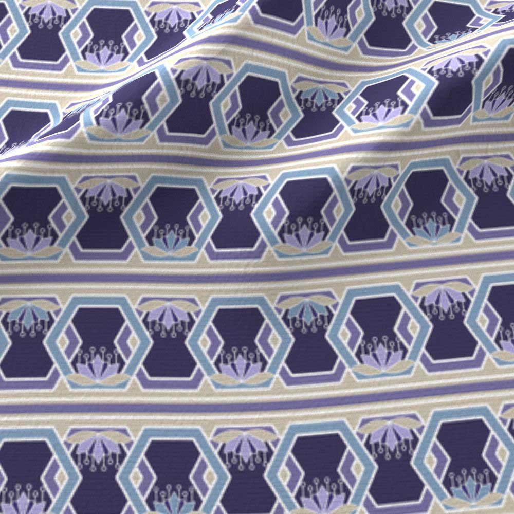 Lotus hexagon stripes in purple