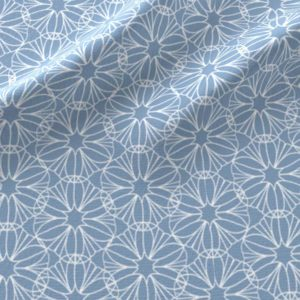 Geometric flowers in light blue