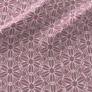Geometric flowers in pink and white
