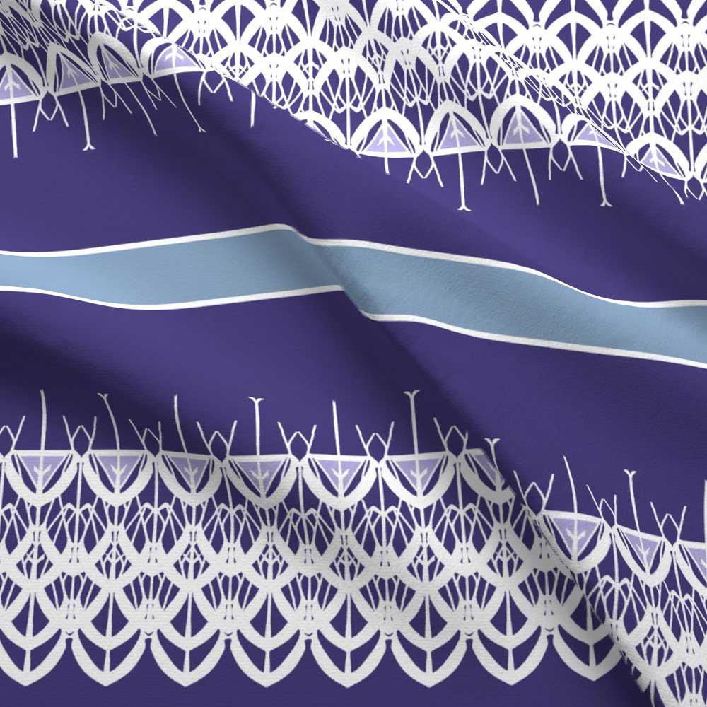White lace border in purple