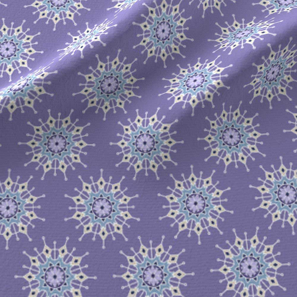 Small mandalas in violet and blue