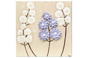Nursery art khaki and lavender wildflower