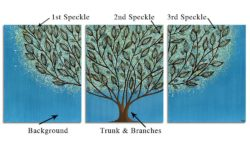 Diagram of custom leafy tree painting