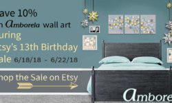 Save 10% on Amborela wall art during Etsy's 13th birthday sale