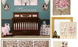 Nursery color idea for pink and brown decor