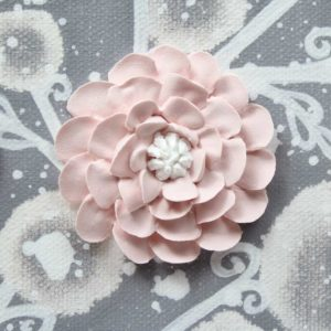 Pink, Gray Flower Nursery Paintings on Two Canvases – Small