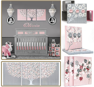 Nursery Color Ideas Pink and Gray