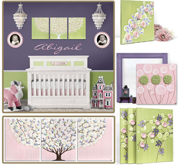 Nursery Color Ideas Pink, Green, Purple