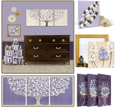 Nursery Color Ideas Purple and Brown