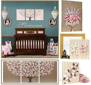 Nursery Color Ideas Pink and Brown
