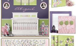 Nursery color scheme idea for a pink and green nursery