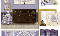 Nursery color scheme idea in lavender and khaki