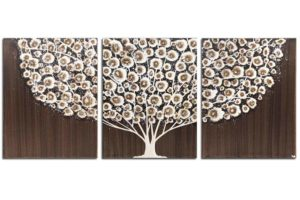 Wall Art Tree Painting on Canvas in Brown and Gray | Large – Extra Large