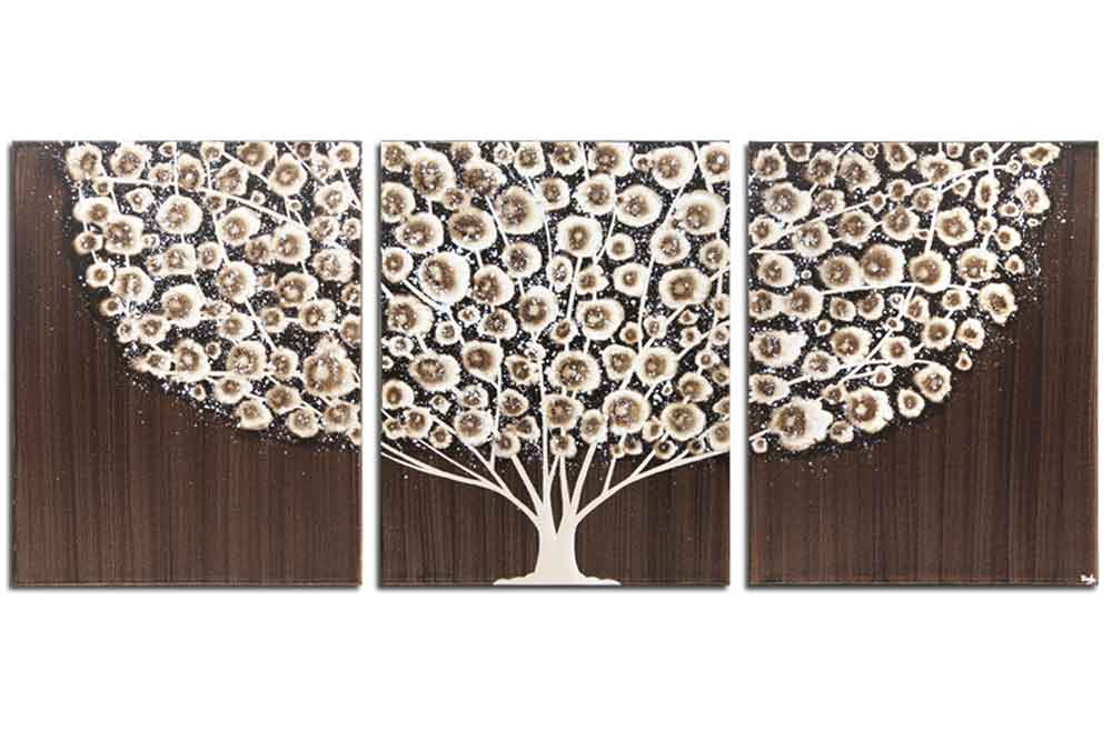 Canvas wall art of brown tree