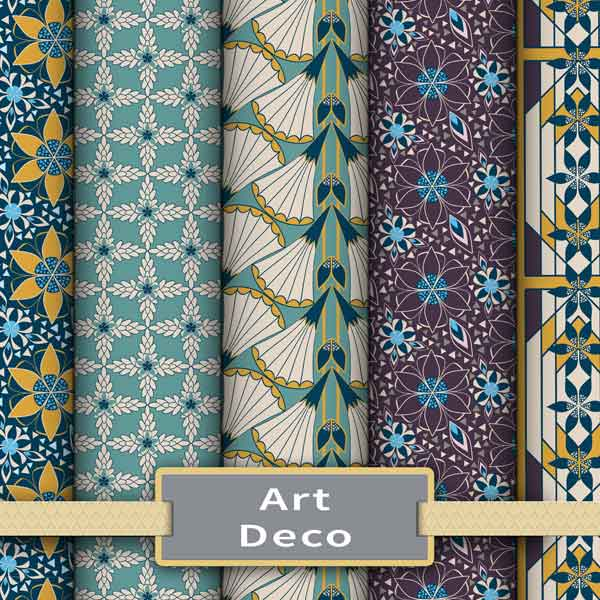 Art Deco Surface Pattern Fabrics